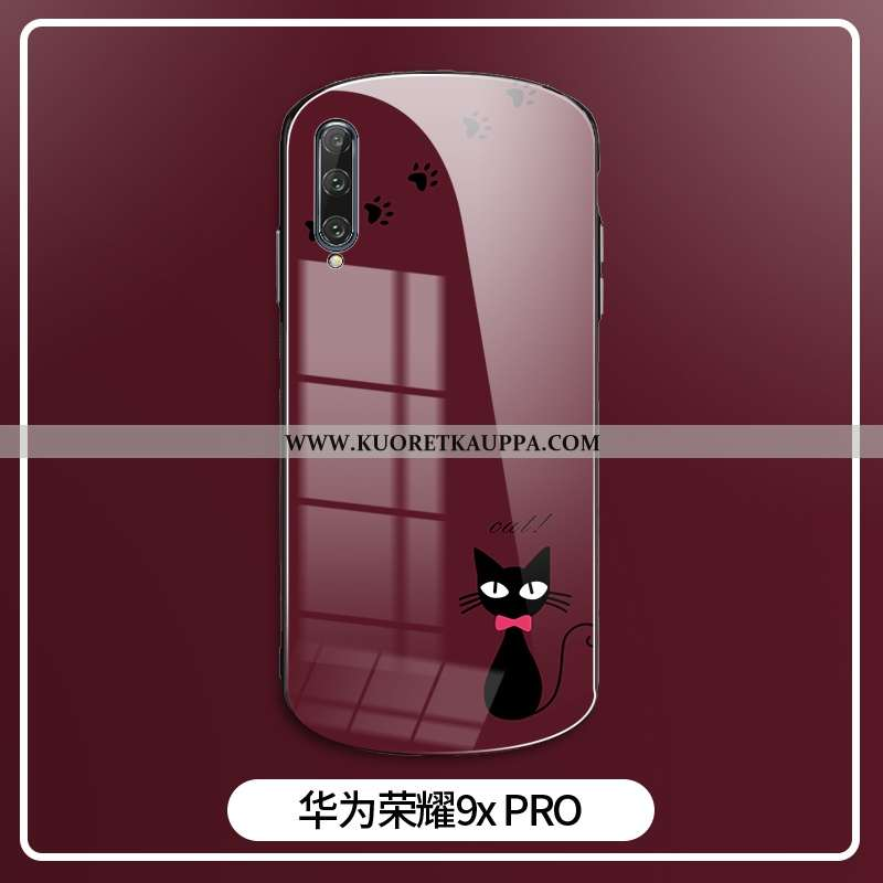 Kuori Honor 9x Pro, Kuoret Honor 9x Pro, Kotelo Honor 9x Pro Sarjakuva Ihana Suojaus Painatus Punain