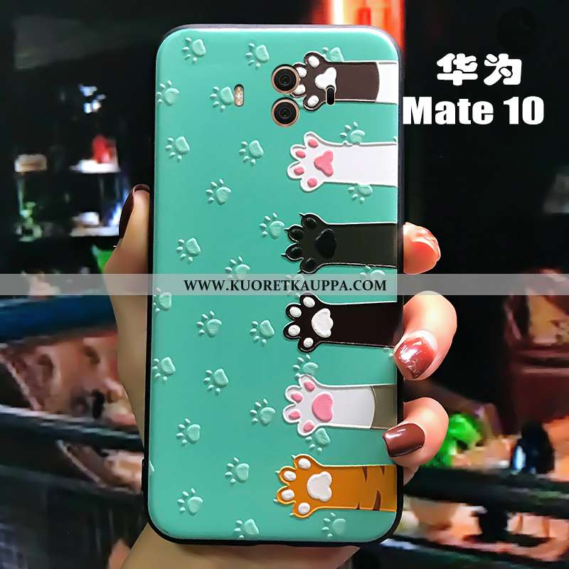 Kuori Huawei Mate 10, Kuoret Huawei Mate 10, Kotelo Huawei Mate 10 Luova Kohokuviointi Pesty Suede S