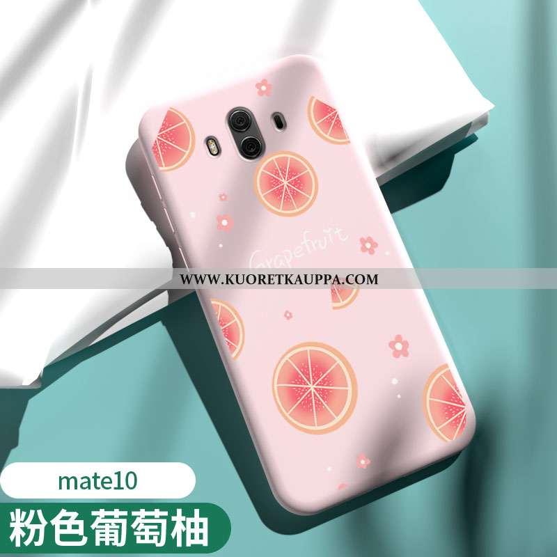 Kuori Huawei Mate 10, Kuoret Huawei Mate 10, Kotelo Huawei Mate 10 Silikoni Suojaus Jauhe Pinkki