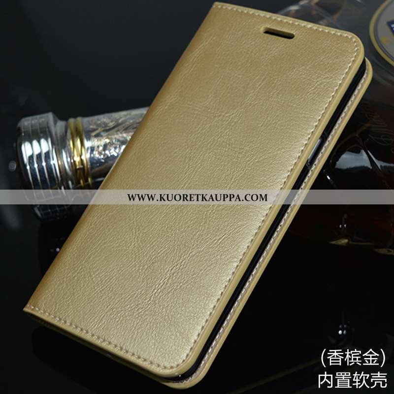 Kuori Huawei Mate 10 Lite, Kuoret Huawei Mate 10 Lite, Kotelo Huawei Mate 10 Lite Nahkakuori Kulta M