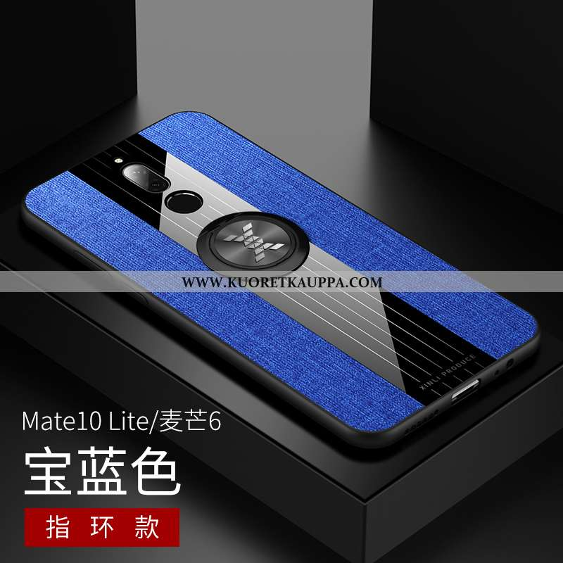 Kuori Huawei Mate 10 Lite, Kuoret Huawei Mate 10 Lite, Kotelo Huawei Mate 10 Lite Pesty Suede Kukkak