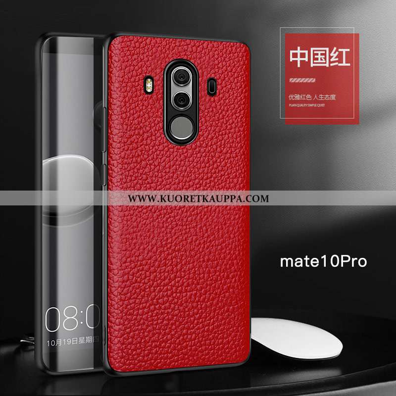 Kuori Huawei Mate 10 Pro, Kuoret Huawei Mate 10 Pro, Kotelo Huawei Mate 10 Pro Aito Nahka Nahka Murt