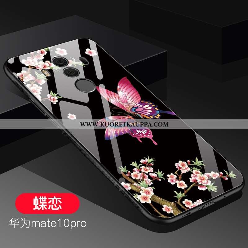 Kuori Huawei Mate 10 Pro, Kuoret Huawei Mate 10 Pro, Kotelo Huawei Mate 10 Pro Suojaus Lasi Net Red