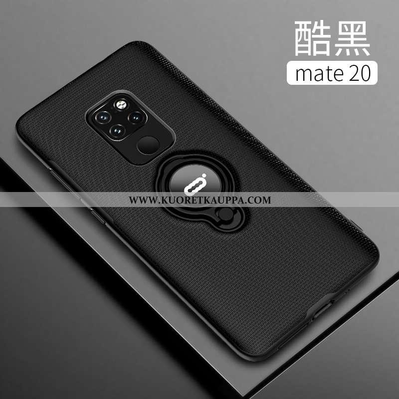 Kuori Huawei Mate 20, Kuoret Huawei Mate 20, Kotelo Huawei Mate 20 Läpinäkyvä Pesty Suede Uusi Musta