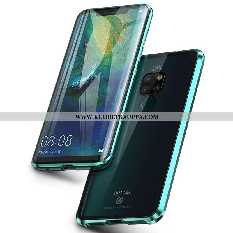 Kuori Huawei Mate 20, Kuoret Huawei Mate 20, Kotelo Huawei Mate 20 Lasi Läpinäkyvä Murtumaton Kaksip
