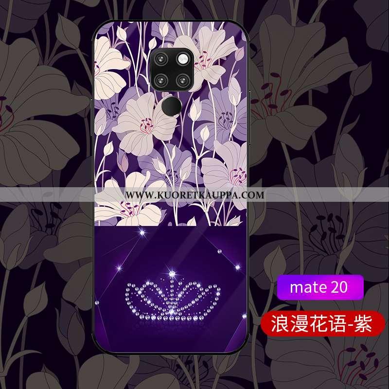 Kuori Huawei Mate 20, Kuoret Huawei Mate 20, Kotelo Huawei Mate 20 Lasi Persoonallisuus Violetti Hig