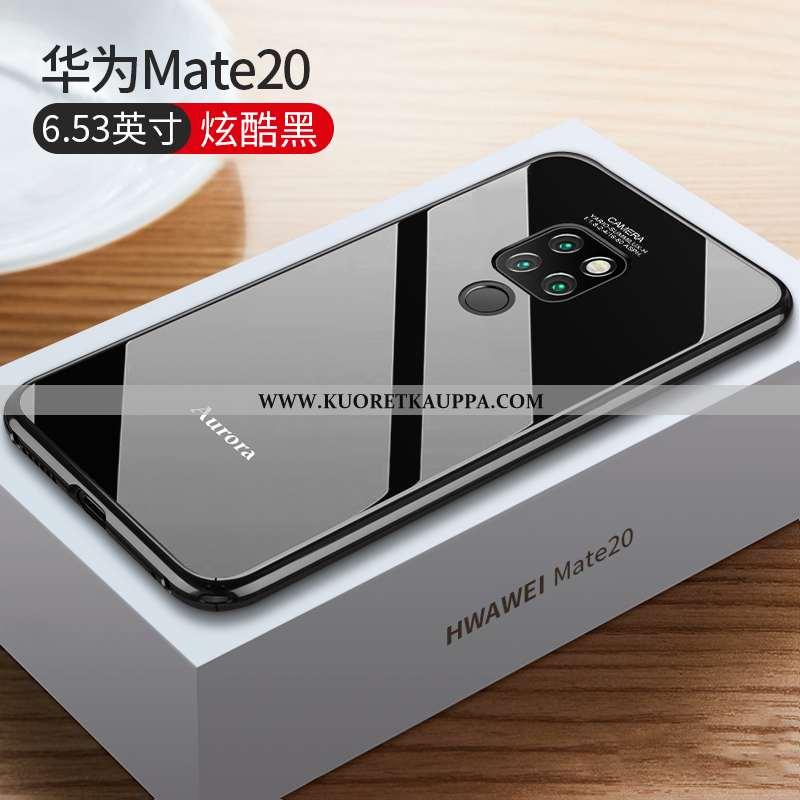 Kuori Huawei Mate 20, Kuoret Huawei Mate 20, Kotelo Huawei Mate 20 Lasi Suuntaus Ultra Musta Murtuma