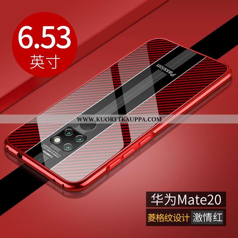 Kuori Huawei Mate 20, Kuoret Huawei Mate 20, Kotelo Huawei Mate 20 Lasi Ultra Valo Punainen