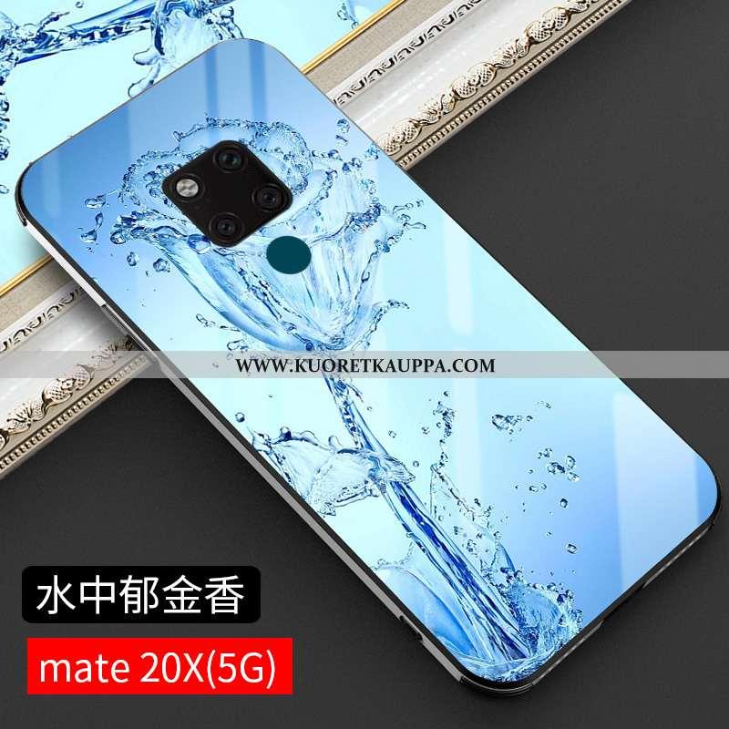 Kuori Huawei Mate 20 X, Kuoret Huawei Mate 20 X, Kotelo Huawei Mate 20 X Lasi Suuntaus Puhelimen Mur