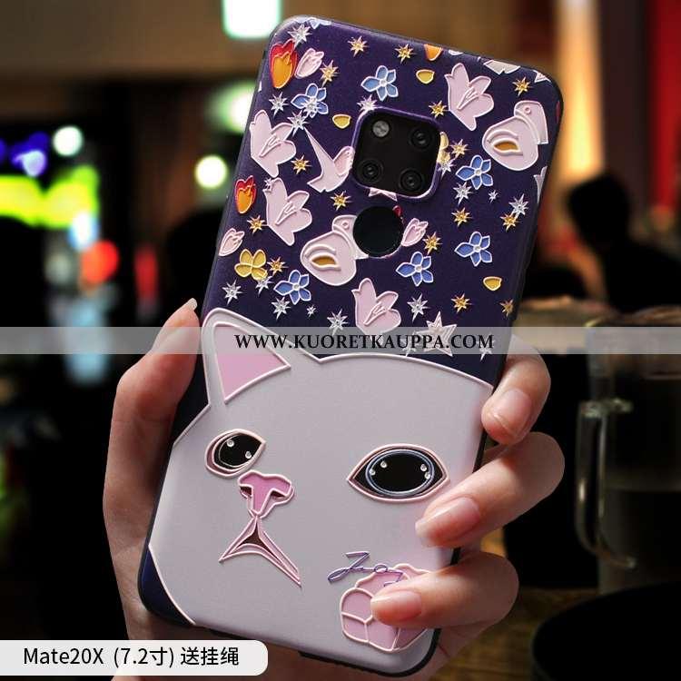 Kuori Huawei Mate 20 X, Kuoret Huawei Mate 20 X, Kotelo Huawei Mate 20 X Silikoni All Inclusive Puhe