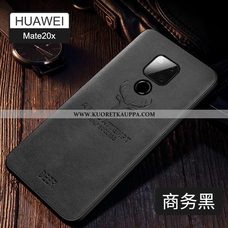 Kuori Huawei Mate 20 X, Kuoret Huawei Mate 20 X, Kotelo Huawei Mate 20 X Ultra Valo Suuntaus Nahka M