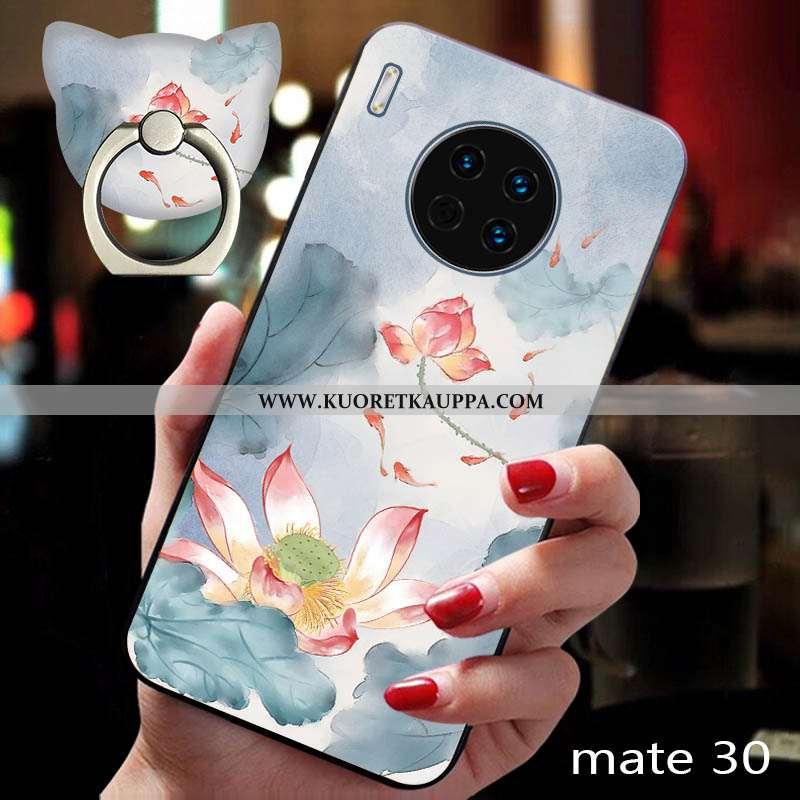 Kuori Huawei Mate 30, Kuoret Huawei Mate 30, Kotelo Huawei Mate 30 Silikoni Suojaus Kohokuviointi Si