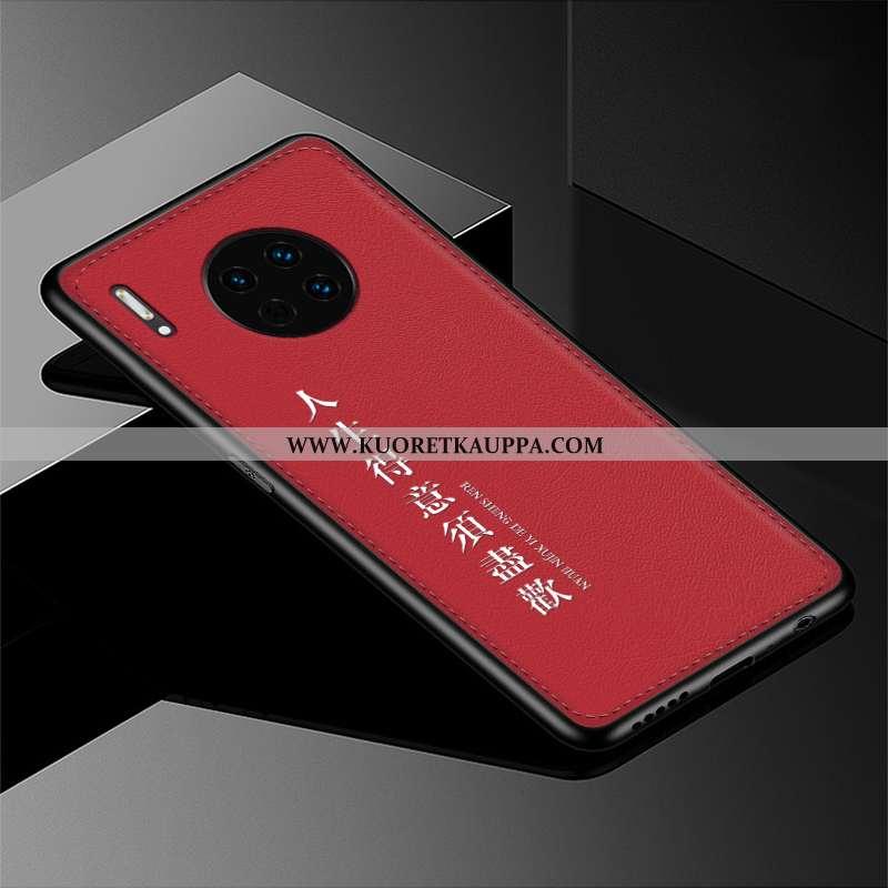 Kuori Huawei Mate 30, Kuoret Huawei Mate 30, Kotelo Huawei Mate 30 Suojaus Kohokuviointi Nahka Puhel