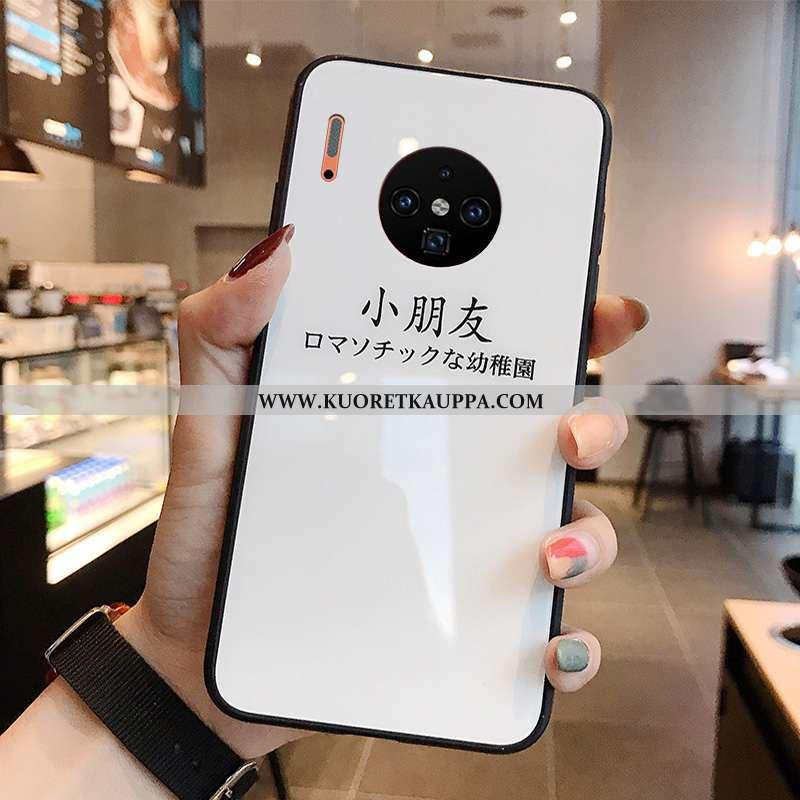 Kuori Huawei Mate 30, Kuoret Huawei Mate 30, Kotelo Huawei Mate 30 Suojaus Lasi Net Red Valkoinen Pe