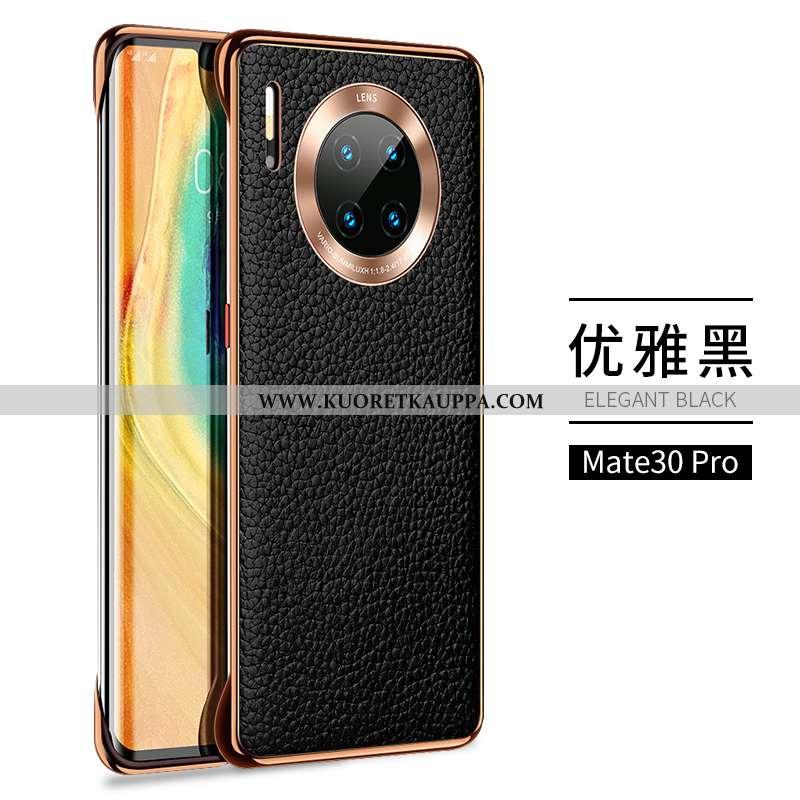 Kuori Huawei Mate 30 Pro, Kuoret Huawei Mate 30 Pro, Kotelo Huawei Mate 30 Pro Kukkakuvio Valo Musta