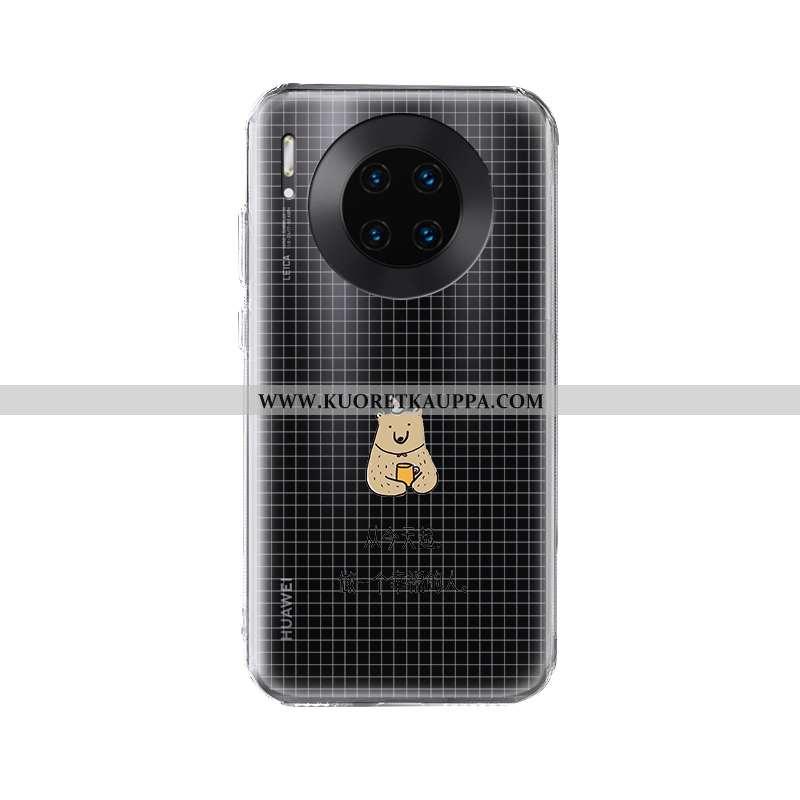 Kuori Huawei Mate 30 Pro, Kuoret Huawei Mate 30 Pro, Kotelo Huawei Mate 30 Pro Luova Silikoni Läpinä