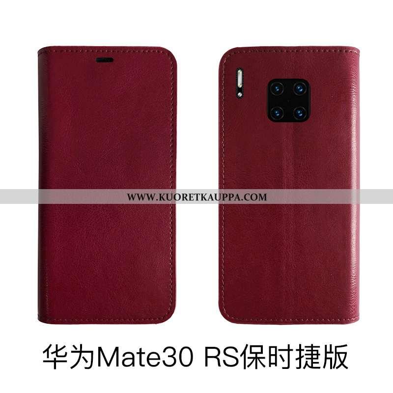 Kuori Huawei Mate 30 Rs, Kuoret Huawei Mate 30 Rs, Kotelo Huawei Mate 30 Rs Aito Nahka Nahka Suojaus