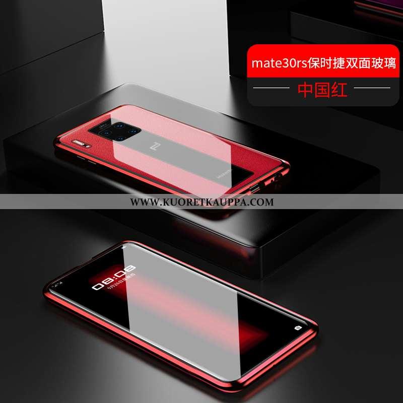 Kuori Huawei Mate 30 Rs, Kuoret Huawei Mate 30 Rs, Kotelo Huawei Mate 30 Rs Läpinäkyvä Metalli Punai