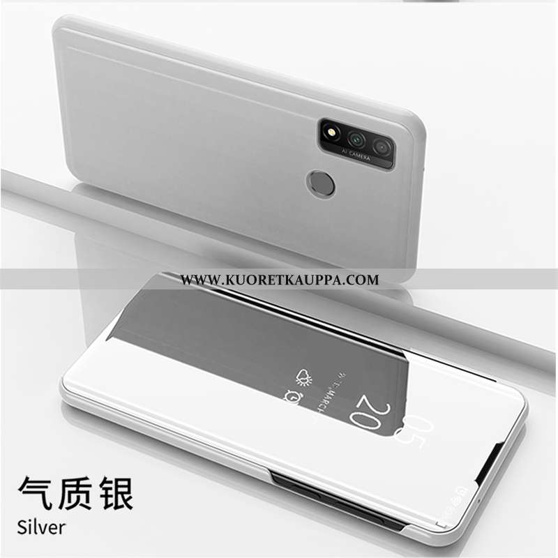 Kuori Huawei P Smart 2020, Kuoret Huawei P Smart 2020, Kotelo Huawei P Smart 2020 Nahkakuori Puhelim