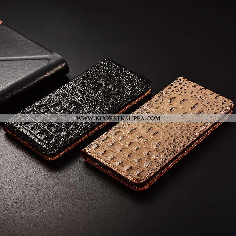 Kuori Huawei P Smart, Kuoret Huawei P Smart, Kotelo Huawei P Smart Aito Nahka Kukkakuvio Suojaus All