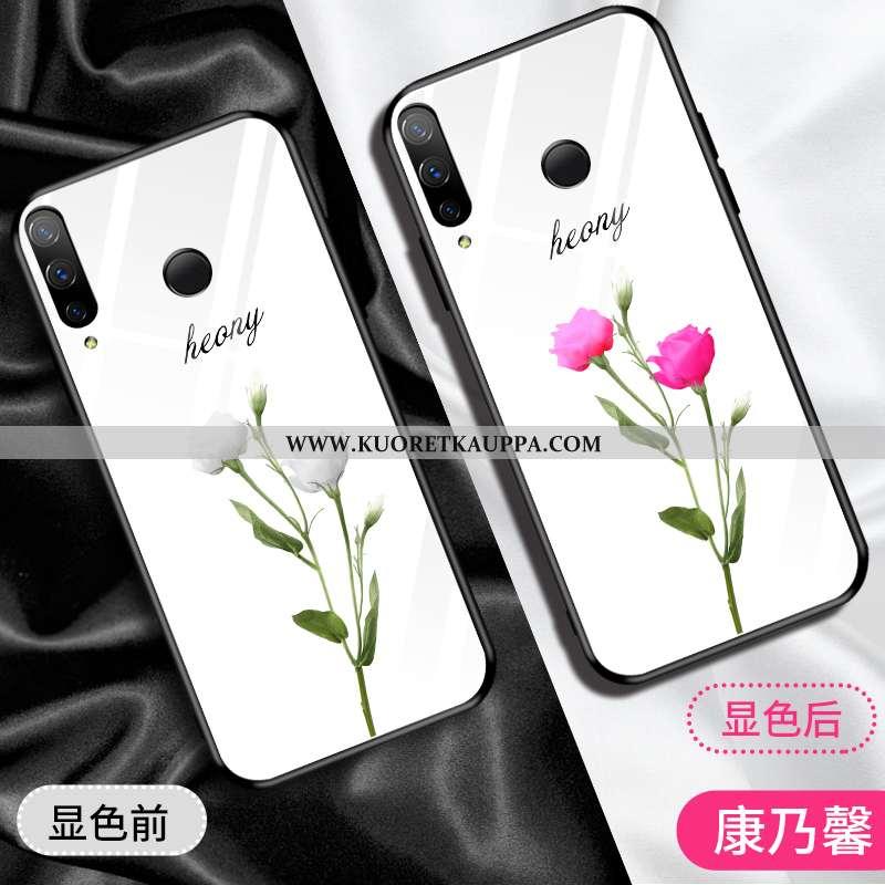 Kuori Huawei P Smart+, Kuoret Huawei P Smart+, Kotelo Huawei P Smart+ Lasi Suuntaus Peili Jauhe Pink