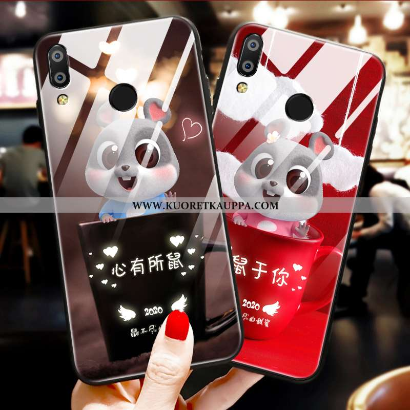 Kuori Huawei P Smart+, Kuoret Huawei P Smart+, Kotelo Huawei P Smart+ Suojaus Lasi Murtumaton Net Re