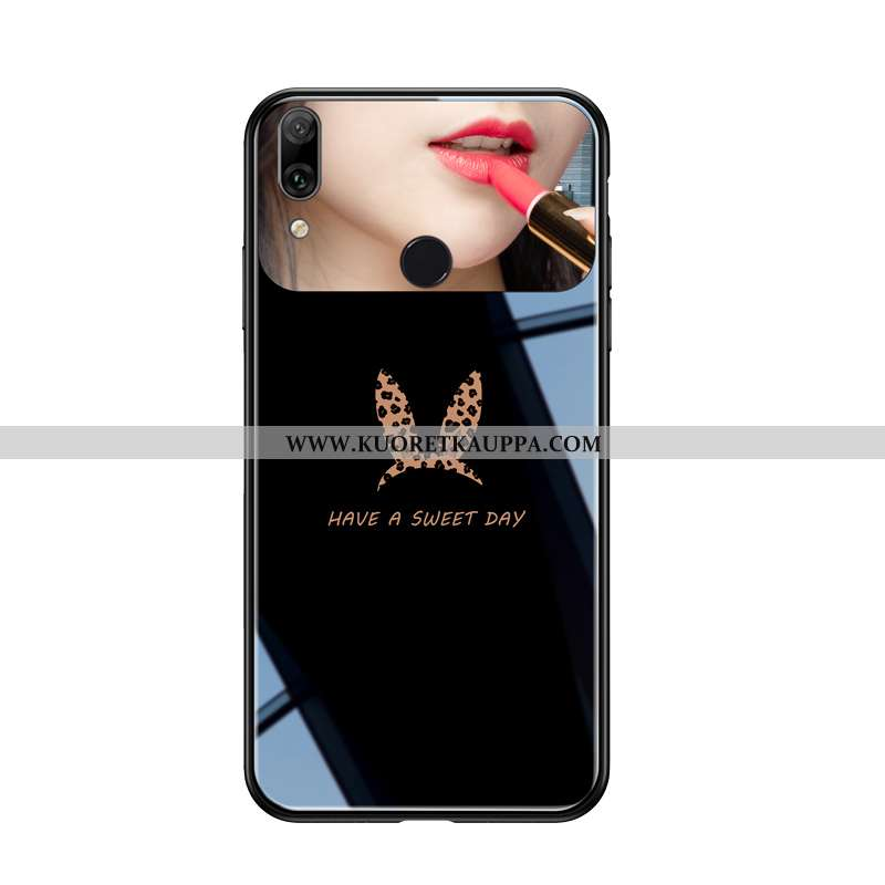 Kuori Huawei P Smart+, Kuoret Huawei P Smart+, Kotelo Huawei P Smart+ Suojaus Lasi Net Red Rakastunu