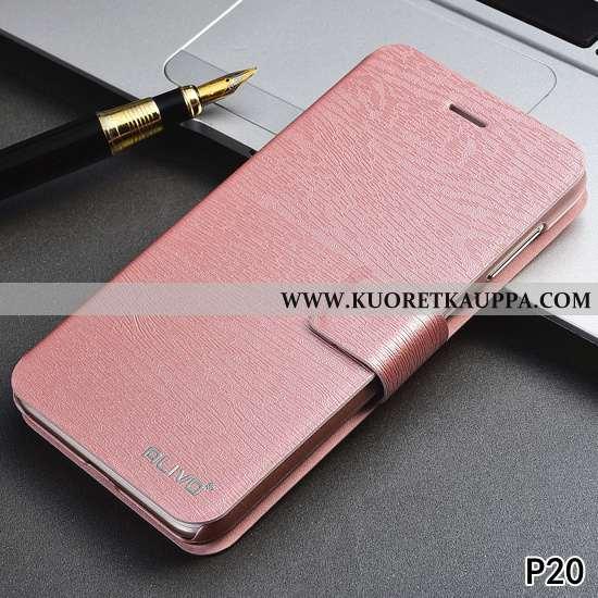 Kuori Huawei P20, Kuoret Huawei P20, Kotelo Huawei P20 Nahkakuori Suuntaus Jauhe All Inclusive Pinkk