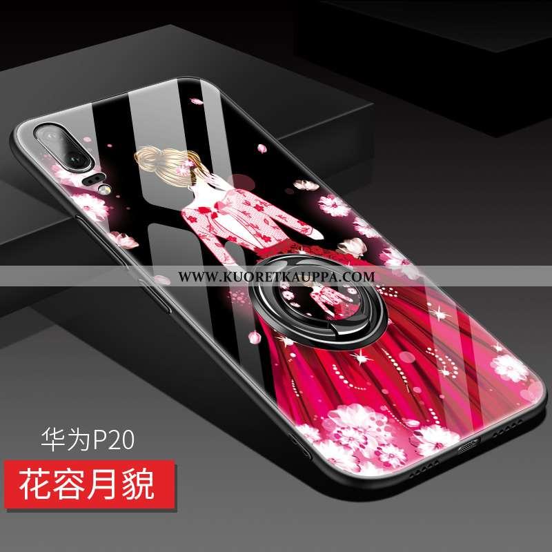 Kuori Huawei P20, Kuoret Huawei P20, Kotelo Huawei P20 Persoonallisuus Luova Net Red Ylellisyys Puhe