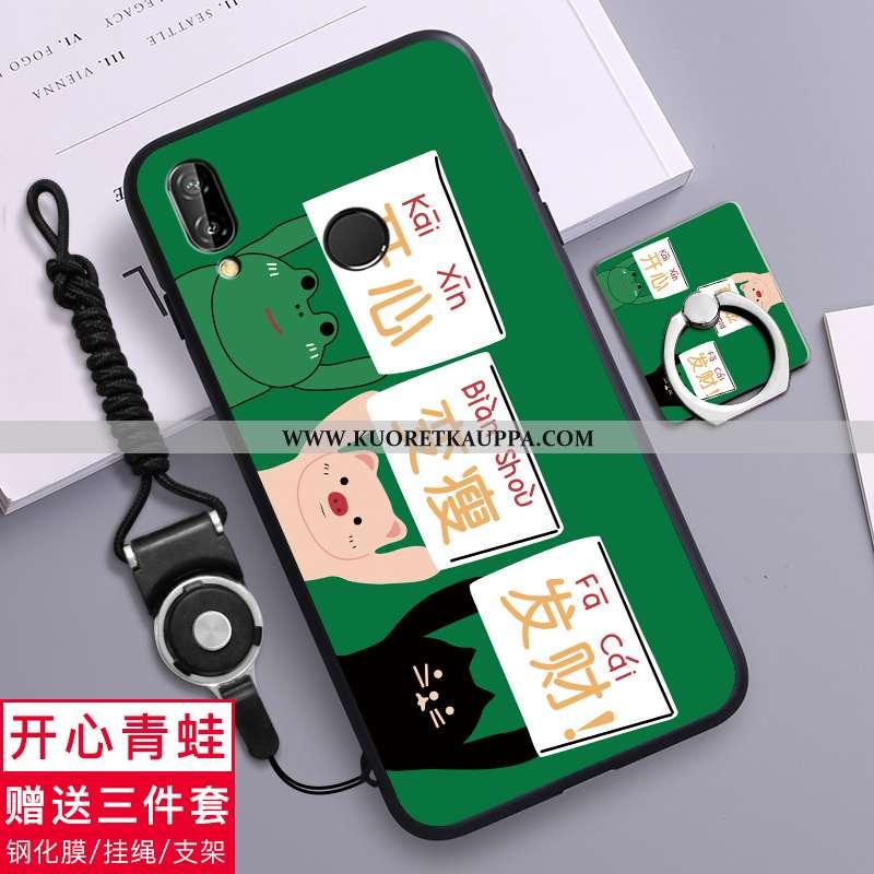 Kuori Huawei P20 Lite, Kuoret Huawei P20 Lite, Kotelo Huawei P20 Lite Pesty Suede Luova Pehmeä Neste