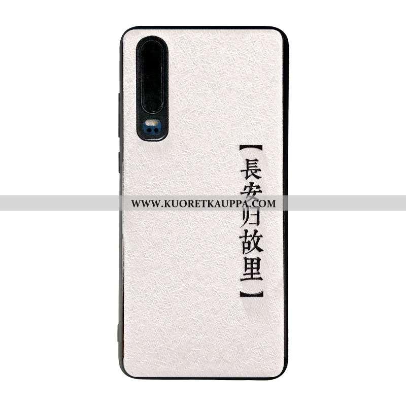 Kuori Huawei P30, Kuoret Huawei P30, Kotelo Huawei P30 Kohokuviointi Puhelimen Mulberry Silkki Net R