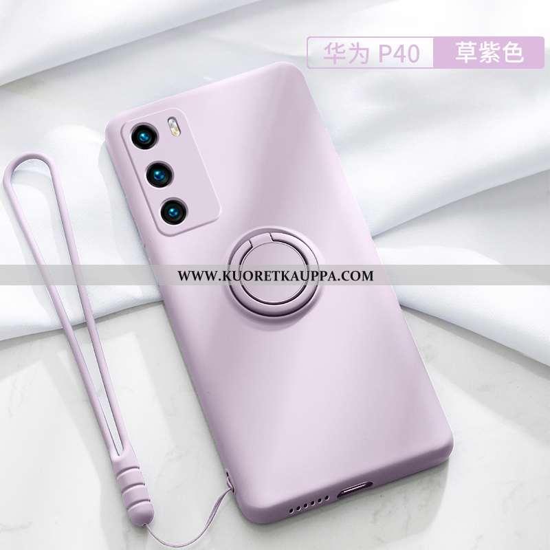 Kuori Huawei P30, Kuoret Huawei P30, Kotelo Huawei P30 Luova Suuntaus Pesty Suede Jauhe Suojaus Pink