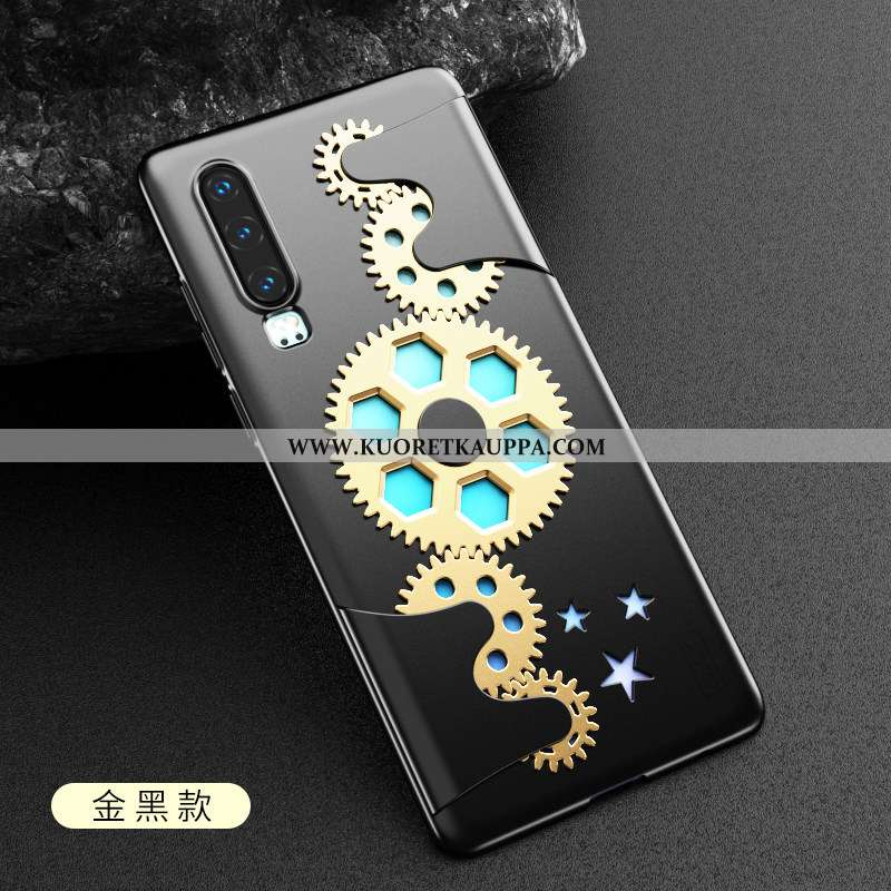 Kuori Huawei P30, Kuoret Huawei P30, Kotelo Huawei P30 Luova Ultra Persoonallisuus Valo Musta Mustat