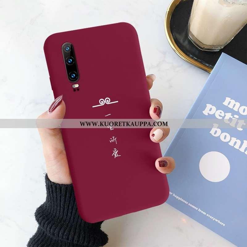 Kuori Huawei P30, Kuoret Huawei P30, Kotelo Huawei P30 Silikoni Suojaus Puhelimen All Inclusive Puna