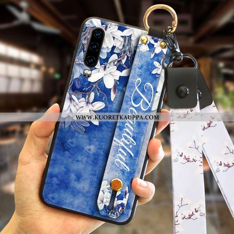 Kuori Huawei P30, Kuoret Huawei P30, Kotelo Huawei P30 Tila Persoonallisuus Tummansininen Tummansini