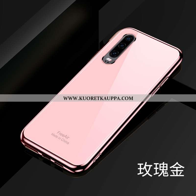 Kuori Huawei P30, Kuoret Huawei P30, Kotelo Huawei P30 Valo Silikoni Jauhe Puhelimen Lehmä Pinkki
