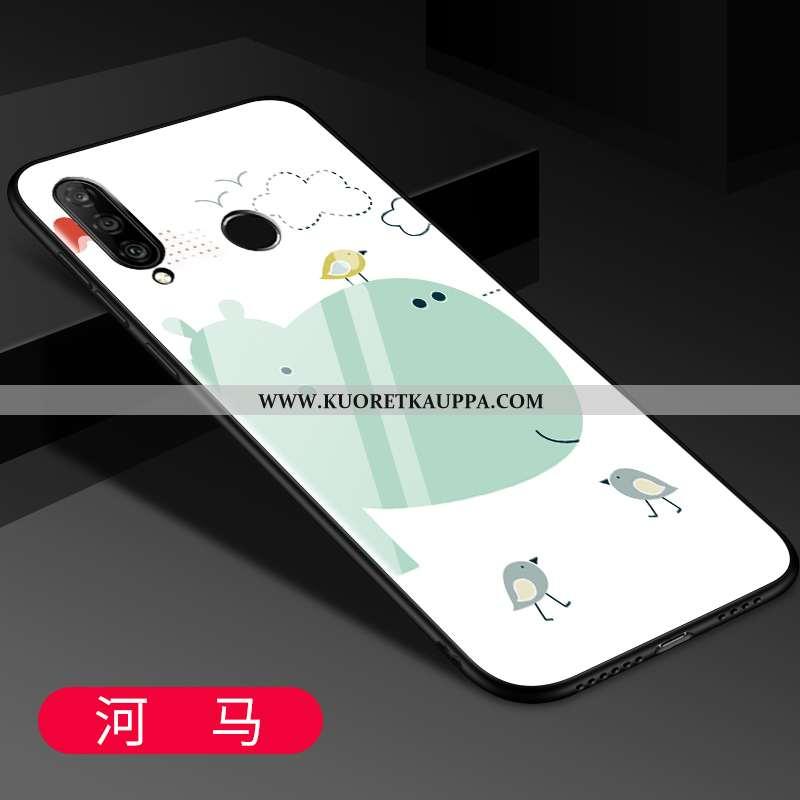 Kuori Huawei P30 Lite, Kuoret Huawei P30 Lite, Kotelo Huawei P30 Lite Lasi Tila Ihana Pehmeä Neste P