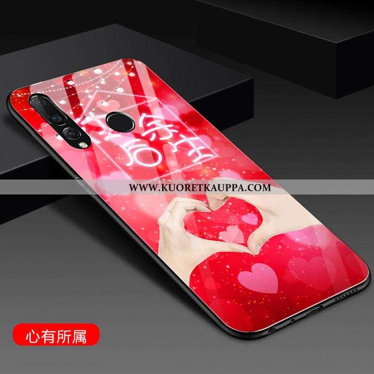 Kuori Huawei P30 Lite, Kuoret Huawei P30 Lite, Kotelo Huawei P30 Lite Silikoni Lasi Suuntaus Puhelim