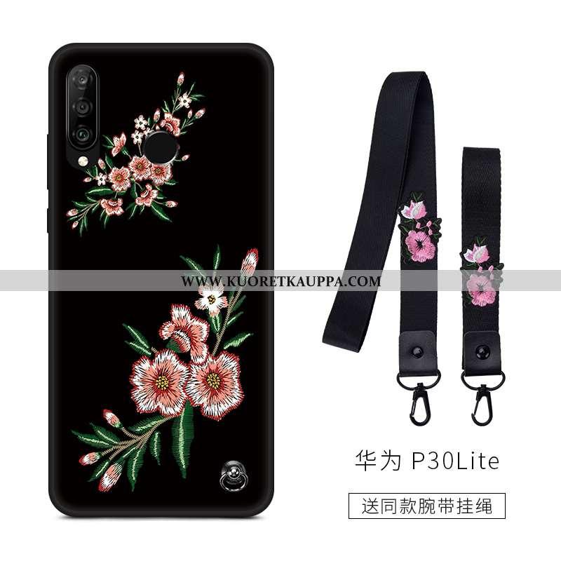 Kuori Huawei P30 Lite, Kuoret Huawei P30 Lite, Kotelo Huawei P30 Lite Suojaus Pesty Suede Rakastunut