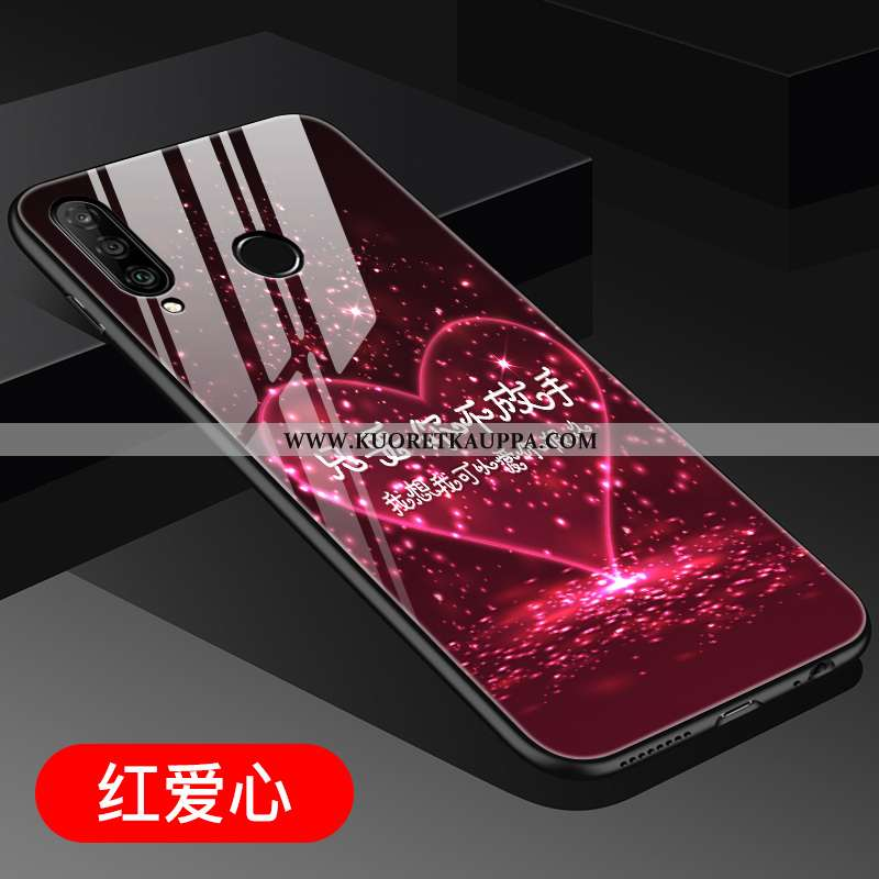 Kuori Huawei P30 Lite, Kuoret Huawei P30 Lite, Kotelo Huawei P30 Lite Suuntaus Lasi Nuoret Ulotteine