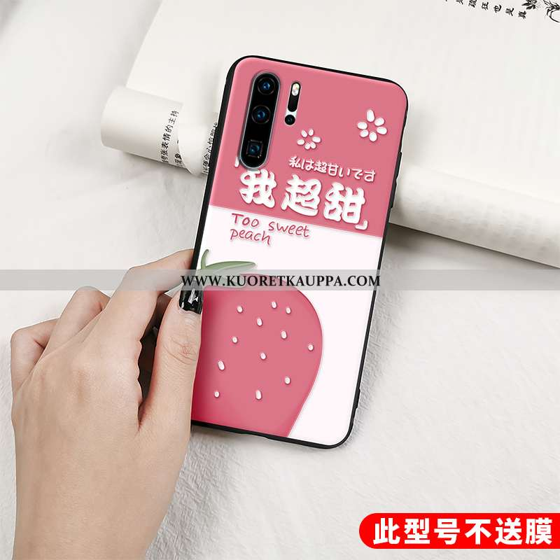 Kuori Huawei P30 Pro, Kuoret Huawei P30 Pro, Kotelo Huawei P30 Pro Suuntaus Pehmeä Neste Punainen Ih