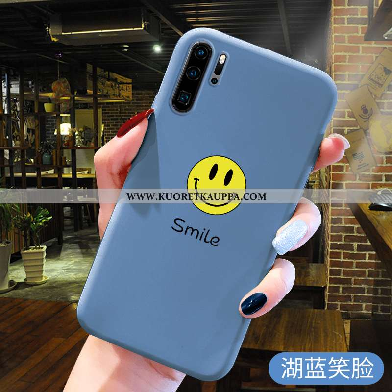 Kuori Huawei P30 Pro, Kuoret Huawei P30 Pro, Kotelo Huawei P30 Pro Suuntaus Pehmeä Neste Sininen