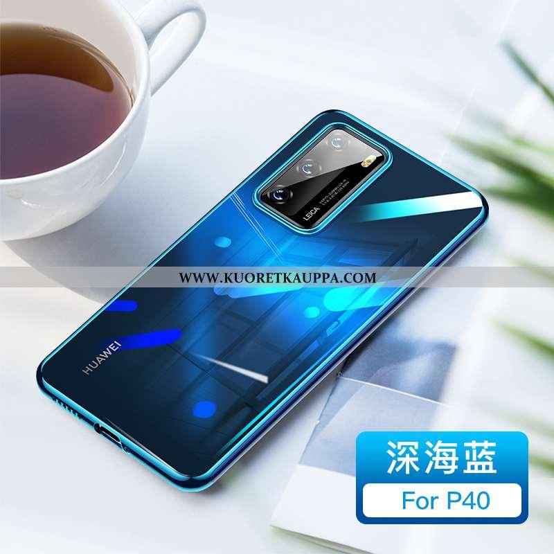 Kuori Huawei P40, Kuoret Huawei P40, Kotelo Huawei P40 Läpinäkyvä Luova All Inclusive Ultra Sininen
