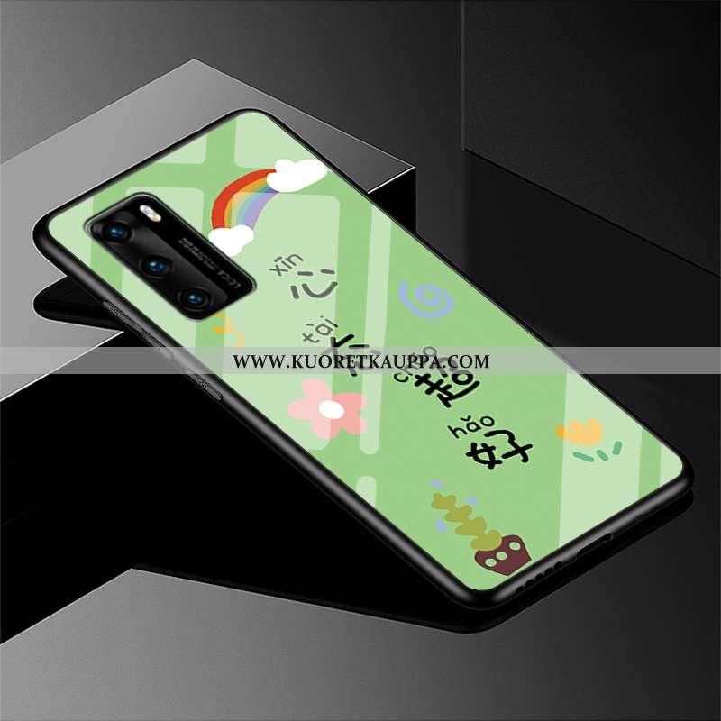 Kuori Huawei P40, Kuoret Huawei P40, Kotelo Huawei P40 Pehmeä Neste Silikoni All Inclusive Vihreä Yk