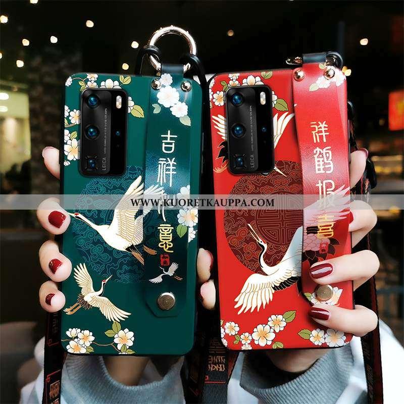 Kuori Huawei P40, Kuoret Huawei P40, Kotelo Huawei P40 Pehmeä Neste Suojaus Vihreä Puhelimen Armeija