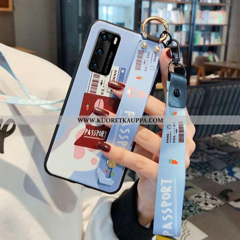 Kuori Huawei P40, Kuoret Huawei P40, Kotelo Huawei P40 Persoonallisuus Ripustettava Kaula Hemming Pu