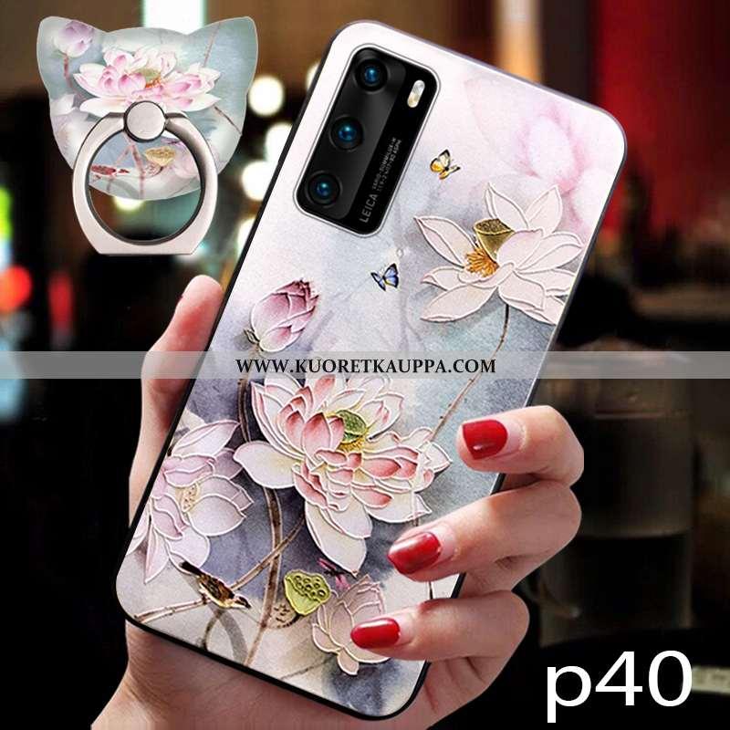 Kuori Huawei P40, Kuoret Huawei P40, Kotelo Huawei P40 Silikoni Suojaus Murtumaton Pehmeä Neste Pink
