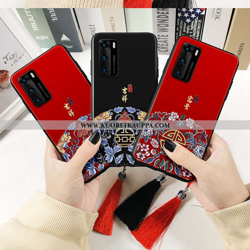 Kuori Huawei P40, Kuoret Huawei P40, Kotelo Huawei P40 Suojaus Pehmeä Neste Puhelimen Punainen