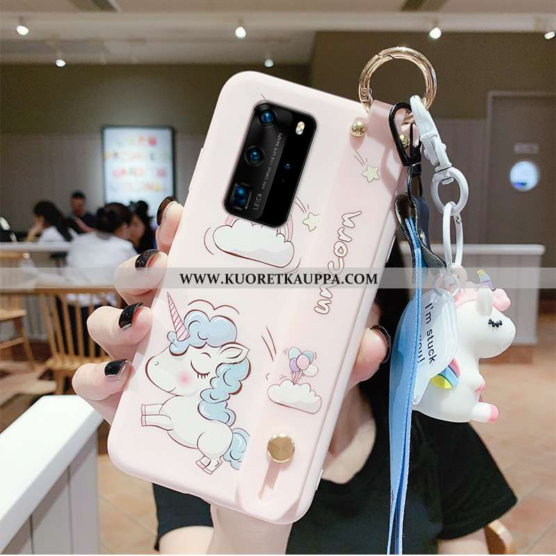 Kuori Huawei P40, Kuoret Huawei P40, Kotelo Huawei P40 Suojaus Persoonallisuus Puhelimen Jauhe Pinkk