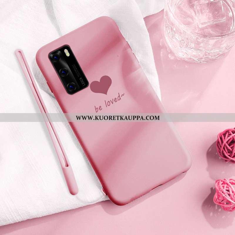 Kuori Huawei P40, Kuoret Huawei P40, Kotelo Huawei P40 Ultra Pehmeä Neste Rakastunut Puhelimen Pinkk